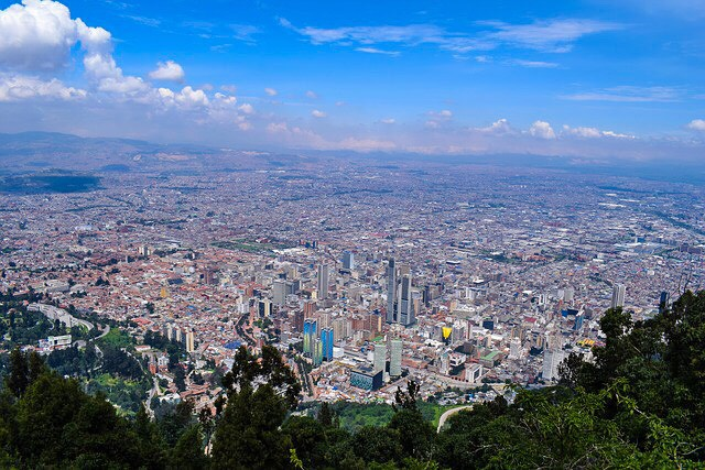 View of Bogota from Cerro de Monserrate